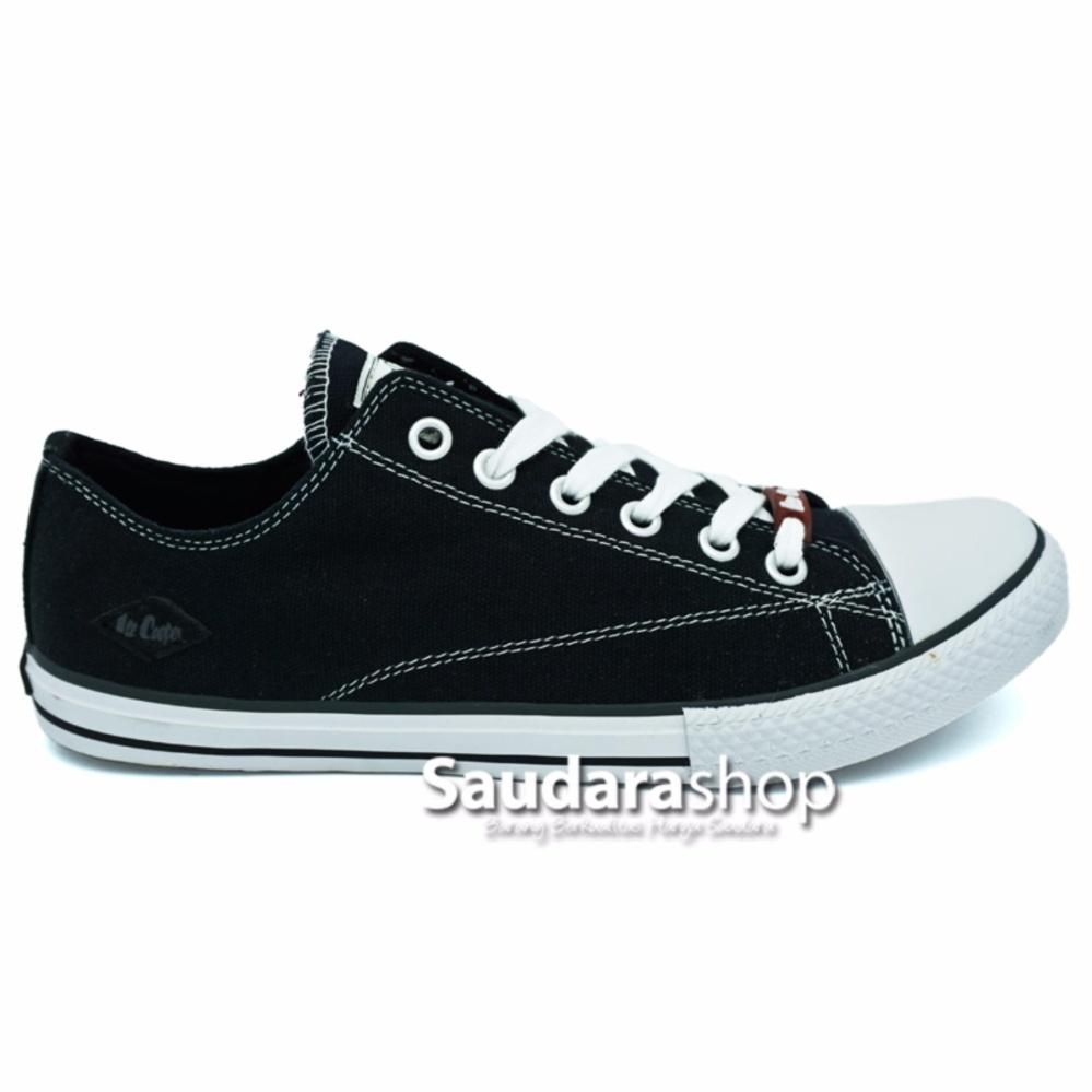 Lee Cooper Sepatu Sekolah Black White [37-44 ] / Sepatu Sneaker Hitam